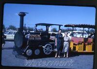 1965 kodachrome photo slide Florida Key West tour train Frosty Maid      FL48
