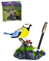 Chirping Bird Battery Operated Motion Sensor Ornament Singing Sounds +Pen Holder