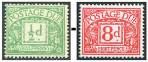 1914-1969 Postage Due Lightly Mounted Mint Single Stamps