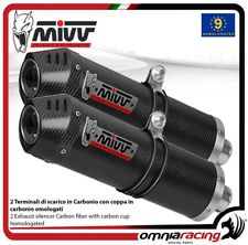 MIVV OVAL pair of exhaust homologated carbon for KAWASAKI ZZR1400 2008>2011