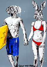 GILLIE AND MARC. Direct from artists. Authentic Art Print 'Sun' 'Surf' 'Love'