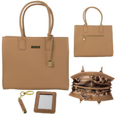 Joy Mangano & Iman Genuine Leather Hollywood Glamour Camel Handbag SEALED RARE!