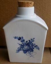 "Royal Copenhagen 6"" Blue & White  00006000 Floral Canister Tea Caddy 1/12502"