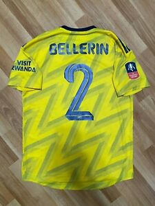 2019 2020 Arsenal Match Player Issue Away Yellow Jersey HECTOR BELLERIN FA CUP
