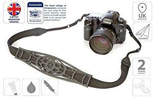 Camera Strap Adjustable Shoulder Strap Sling Canon Nikon DSLR Black is0941