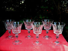 BACCARAT BUCKINGHAM WINE CRYSTAL GLASSES VERRES A VIN CRISTAL TAILLÉ PICCADILLY