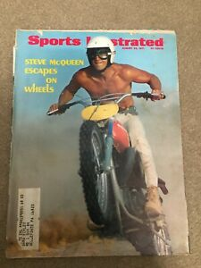 FM2-49 Sports Illustrated Magazine 8-23-1971 STEVE McQUEEN Motorcycle