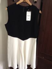ZARA GENUINE SOLD OUT TWO TONED DRESS BLACK/WHITE BNWT L