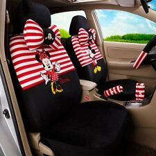 # Best Gift ONSALE#Mickey Minnie Mouse Car Seat Cover Cushion Accessories18PCS