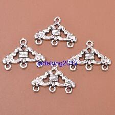 10pcs Tibetan Silver Charm Earring Connectors 23x17mm Jewelry Findings J3051