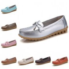35-44 Womens Bowknots Slip On Casual Moccasin Loafers Mom Shoes Non-slip Flats B
