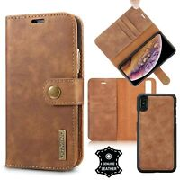 Soft Leather Wallet Case Stand with RFID Protection For iPhone 6 7 8 X Xr Xs Max