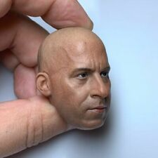 1/6 Vin Diesel Male Head Carving Sculpt Model Fit 12'' Male Soldier Figure Model