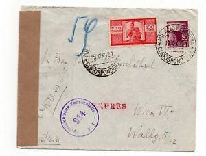 1949 Espresso per estero Democratica 100 Lire + 20 L. Milano -  Vienna