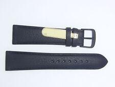 "DI-Modell Genuine Cowhide Waterproof Leather 22 mm BLACK Watch Band ""SPORT"""