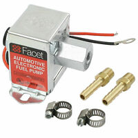Facet FEP42SV Cube Electric Fuel Pump 1.5-4 Psi Includes Clamps//Fittings//Filter