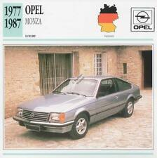 1977-1987 OPEL MONZA Classic Car Photograph / Information Maxi Card