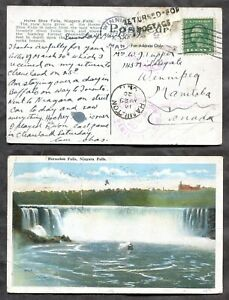 p1488- DLO Dead Letter Office Hamilton & Winnipeg. USA Postcard. Hockey Message✉