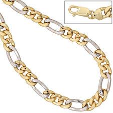 Goldkette 333 Gold 8 Karat Figarokette GG WG zweifarbig 50 cm Kette Halskette