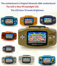 22 Colors Game Boy Advance GBA Game Console with iPS Backlight Backlit LCD MOD