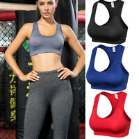 Women's Racerback Sports Bras High Impact Workout Gym Activewear Bra Breathable