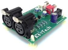 STEREO bilanciato a sbilanciato Audio Adattatore Convertitore di linea Ultra Basso Rumore