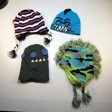 LOT OF 4 YOUTH WINTER SNOW SKI BEANIE HATS