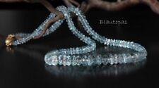 ♥♥ ORNARA ® UNIKAT Edelstein Blautopas facettiert 42 cm Steinkette AAA Collier♥