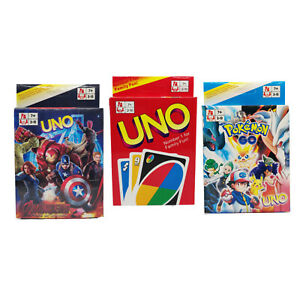 UNO Cards Playing Card Game Original Uno POKEMON Avengers AU STOCK