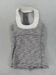 LuLuLemon Fitness Running Yoga Tank With Bra (Womens Size 6) Purple/white