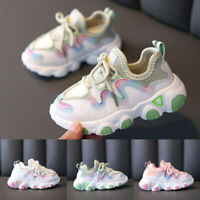 Toddler Infant Kid Baby Girl Mesh Breathable Lace Up Soft Sport Shoes Sneaker AU