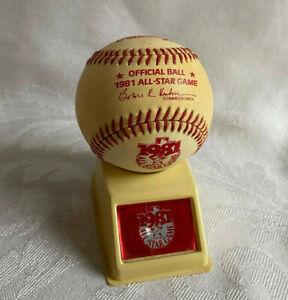 1981 All Star Game Rawlings Offical MLB Baseball Ball w/ Display Stand & Box ASG