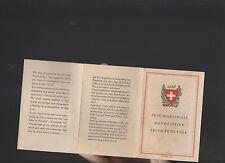 Switzerland 1928 Brochure Fete Nationale Bundesfeier Festa Federale