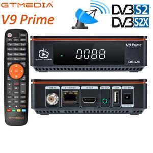 GTMEDIA V9 Satellite TV Receiver Prime Twin Tuner Set Top Box PVR SAT DVB S/S2X