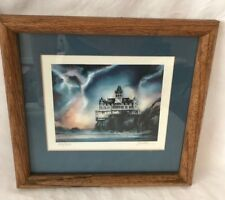 Cliff House Print Signed Limited Edit. San Francisco Tom Brittain Storm Ocean