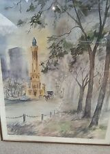 Pat Coffman Huss The Water Tower Original Signed & Framed Watercolor
