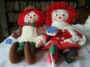 Christmas Raggedy Ann and Andy NWT elf   Applause