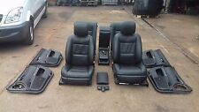 2012 MERCEDES S CLASS W221 COMPLETE BLACK INTERIOR SEATS WITH TV COVER ONLY 67K