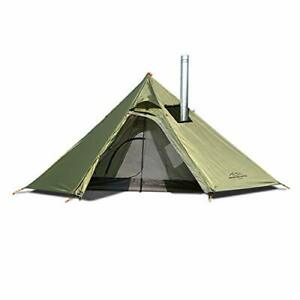 Tipi Hot Tent with Mesh and Fire Retardant Stove Jack for Flue Pipes Lightwei...