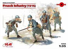 ICM 1:35 scale model kit - French Infantry (1916) 4 Figures ICM35691