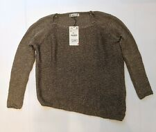 Zara Knit Assymetrical Bronze Jumper Size Small Brand New