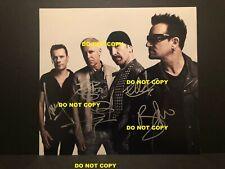U2 Signed photo 10x13 (4 auto's) C.O.A. Hall Of Fame
