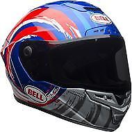 BELL STAR MIPS BINDER RED/BLUE MOTORCYCLE HELMET - SMALL