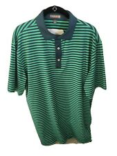 Peter Millar, Summer Comfort Golf Shirt, Size Large, Green W/Tour Logo