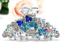 Hot Sale Butterfly Metal Women Rhinestones Crystal Hair Claw Clip hair clamp