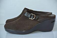 Cole Haan Womens Sz 7 B Brown Suede Leather Wedge Platform Heels NICE!!