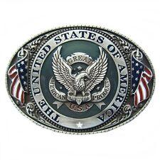 Gürtelschnalle Buckle Gürtelschließe für Wechselgürtel Fliegender Adler The USA
