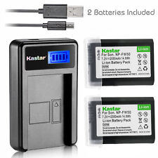 NP-FW50 BC-VW1 Battery & LCD Slim Charger for Sony ILCE-7R Alpha 7R a7R