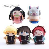 Demon Slayer: Kimetsu no Yaiba Plush Doll Stuffed Toy Cute Keychain Pendant Gift