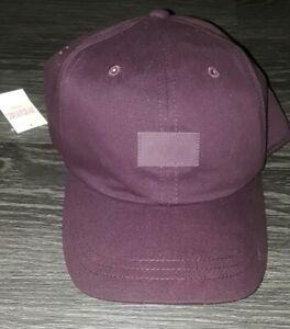 Victorias Secret Pink Snapback Adjustable Baseball Hat Cap black Luscious plum